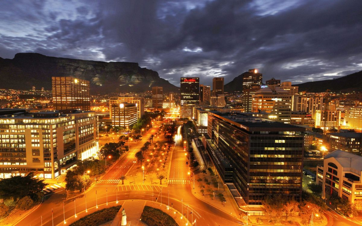 Oneworld Cape town at night
